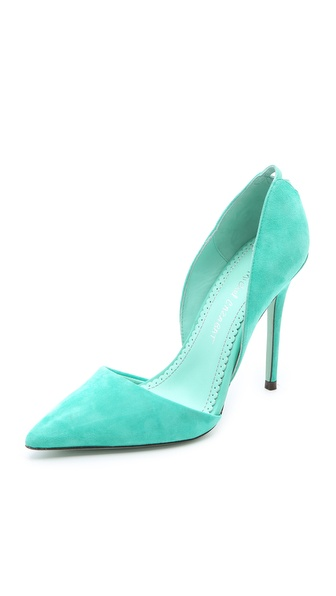 Jean-Michel Cazabat Ella Suede d'Orsay Pumps