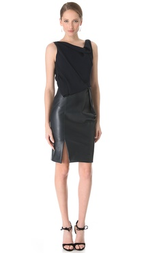 J. Mendel Sleeveless Asymmetrical Dress