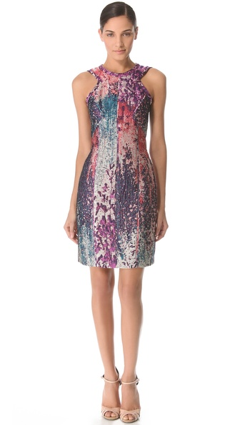 J. Mendel Sleeveless Dress with Angled Neckline