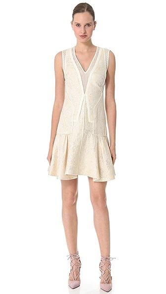 J. Mendel Piped Brocade Dress