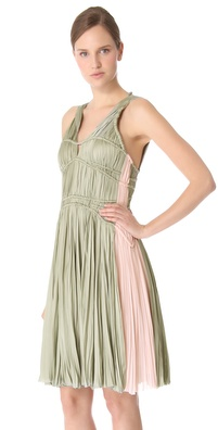 J. Mendel Sleeveless Pleated Dress