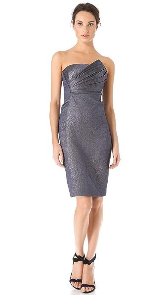 J. Mendel Draped Strapless Dress