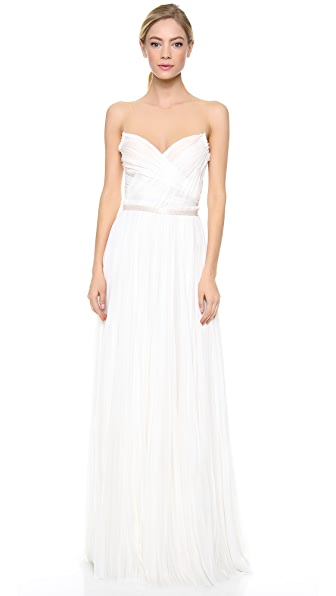 J. Mendel Isadora Hand Pleated Gown