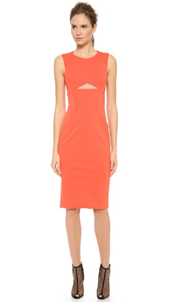 J. Mendel Crewneck Fitted Dress