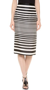 J. Mendel High Waisted Pencil Skirt