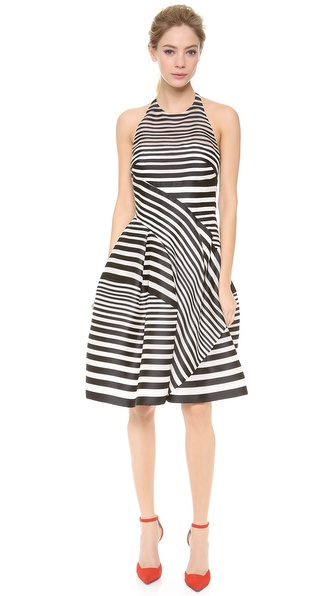 J. Mendel Halter Neck Full Skirted Dress