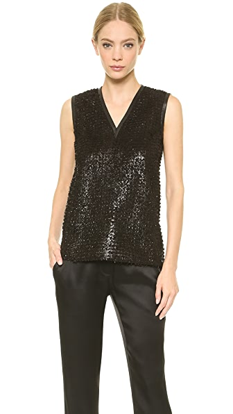 J. Mendel Shredded Leather Tank