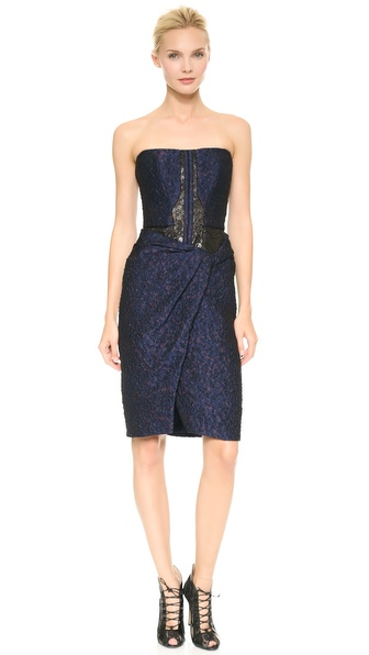 J. Mendel Strapless Cocktail Dress