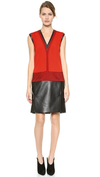 J. Mendel Sleeveless V Neck Dress