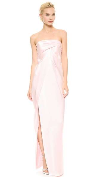 J. Mendel Strapless Gown - Rose Clair