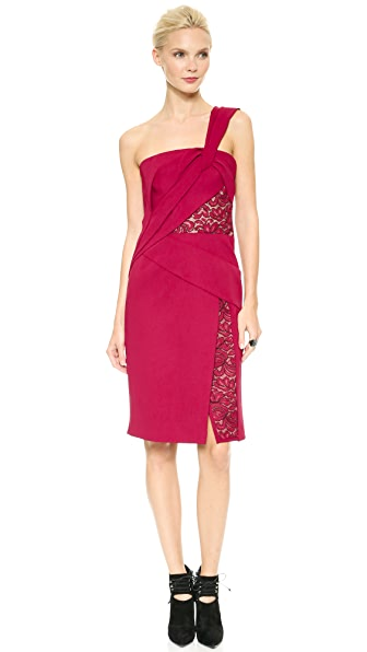 Kupi J. Mendel haljinu online i raspordaja za kupiti J. Mendel One Shoulder Draped Dress Ruby online
