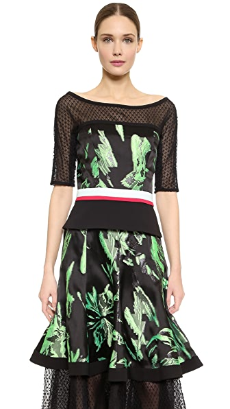 Noir Noir Noir Net Crop Top (Green)