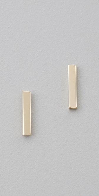 Jennifer Meyer Jewelry Bar Stud Earrings