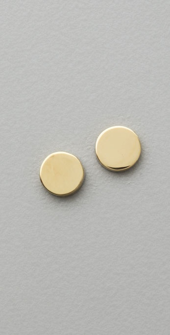 Jennifer Meyer Jewelry Circle Stud Earrings