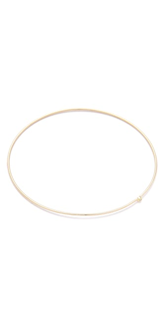 Jennifer Meyer Jewelry 18k Gold Diamond Thin Bangle