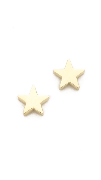 Jennifer Meyer Jewelry Mini Star Stud Earrings