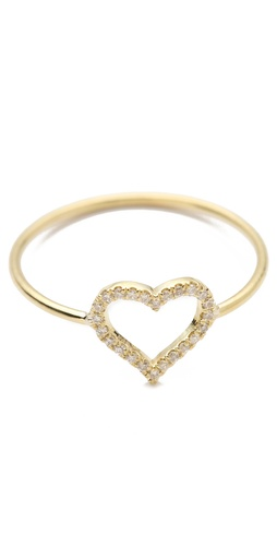 Valentine's Day Gift Guide - Jennifer Meyer Jewelry Diamond Open Heart Ring