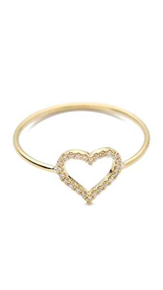 Jennifer Meyer Jewelry Diamond Open Heart Ring