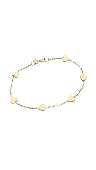 Jennifer Meyer Jewelry Heart by the Inch Bracelet