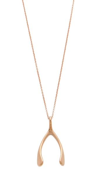 Jennifer Meyer Jewelry Wishbone Necklace