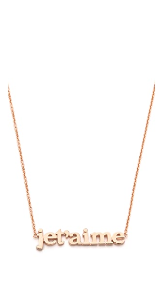 Jennifer Meyer Jewelry Jet'aime Necklace