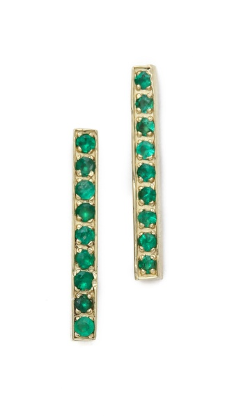 Jennifer Meyer Jewelry Long Bar Stud Earrings