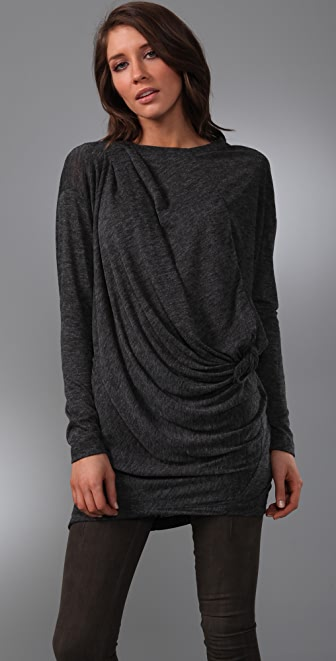 JNBY Draped Long Sleeve Tunic