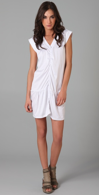 JNBY Short Sleeve V Neck Dress