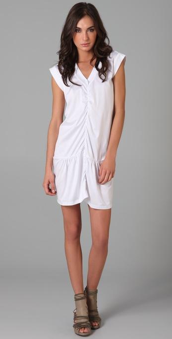 JNBY Short Sleeve V Neck Dress