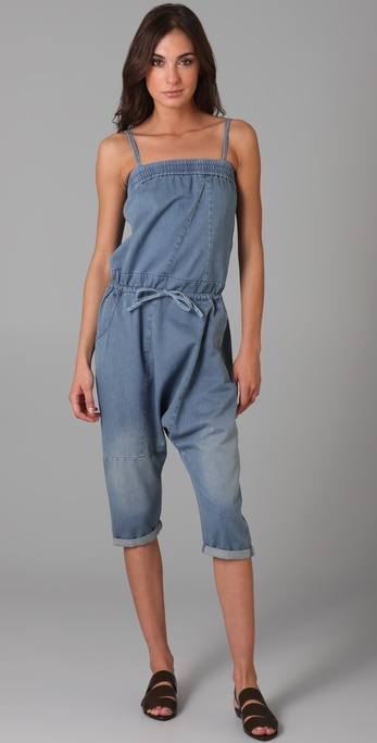 JNBY Denim Drawstring Jumpsuit