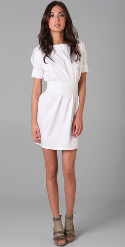 JNBY Short Sleeve Poplin Dress