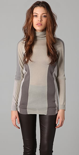 JNBY Colorblock Turtleneck Sweater