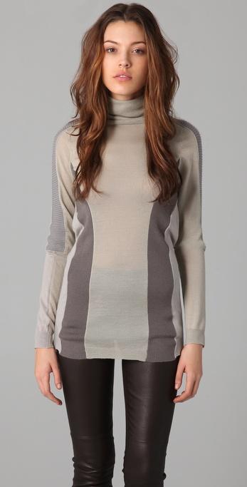 JNBY Colorblock Turtleneck Sweater