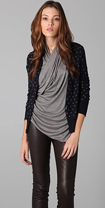 JNBY Front to Back Polka Dot Cardigan