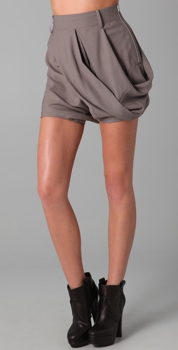 JNBY Asymmetrical Draped Shorts