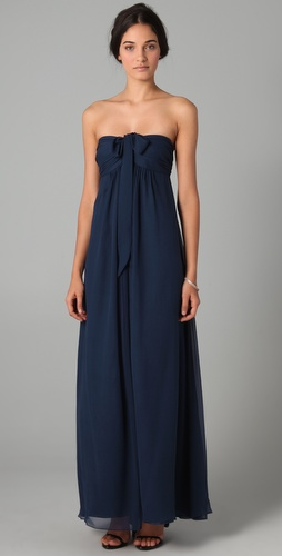 Joanna August Claire Long Strapless Dress