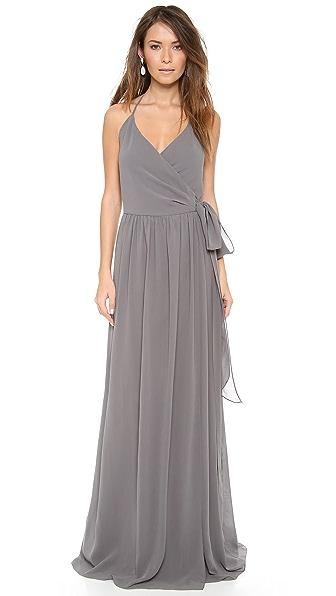 Kupi Joanna August haljinu online i raspordaja za kupiti Joanna August Dc Halter Wrap Dress Smoke On The Water online