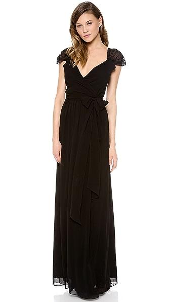 Kupi Joanna August haljinu online i raspordaja za kupiti Joanna August Newbury Cap Sleeve Wrap Dress Blackbird online