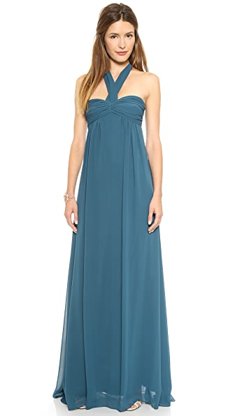 Joanna August Tatum Long Strapless Gown