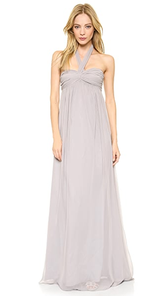 Kupi Joanna August haljinu online i raspordaja za kupiti Joanna August Tatum Long Strapless Gown Silver Bells online