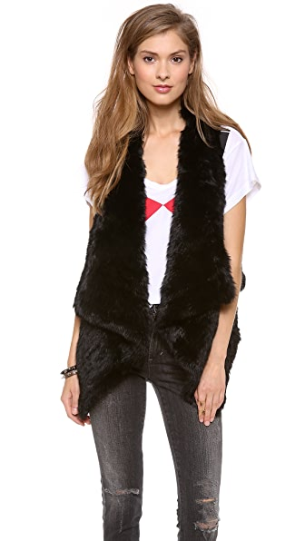 Jocelyn Coco Rabbit Fur Vest