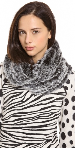 Jocelyn Long Hair Rabbit Infinity Scarf at Shopbop / East Dane