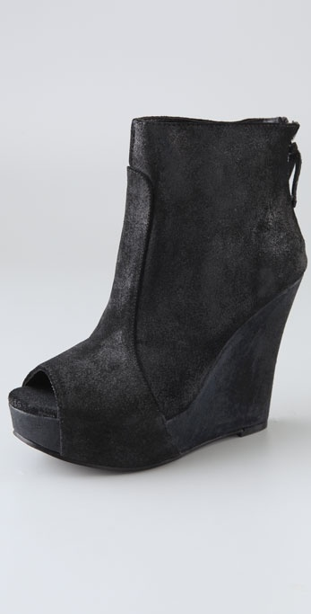 Joe's Jeans Ultra Suede Wedge Booties