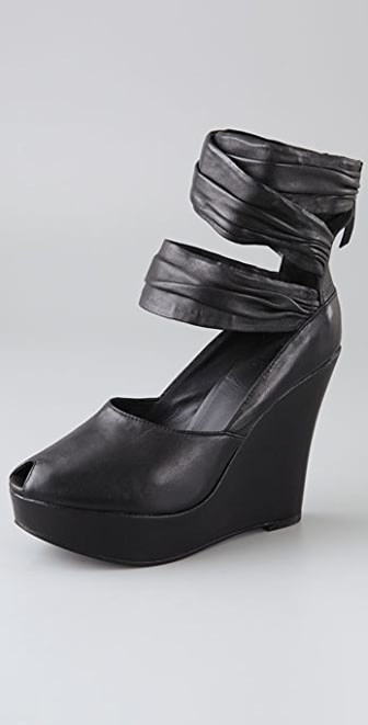 Joe's Jeans Vibrant Draped Wedge Pumps