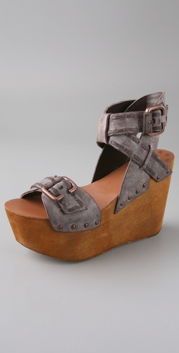Joe's Jeans Bliss Platform Wedge Sandals