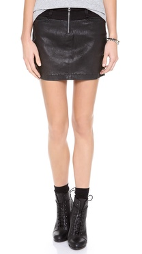 Joe's Jeans Moto Zip Skirt