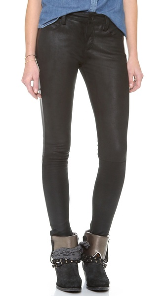 Joe's Jeans Leather Tux Skinny Ankle Pants