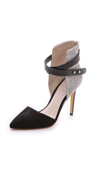 Joe'S Jeans Laney Suede D'Orsay Pumps - Black/White