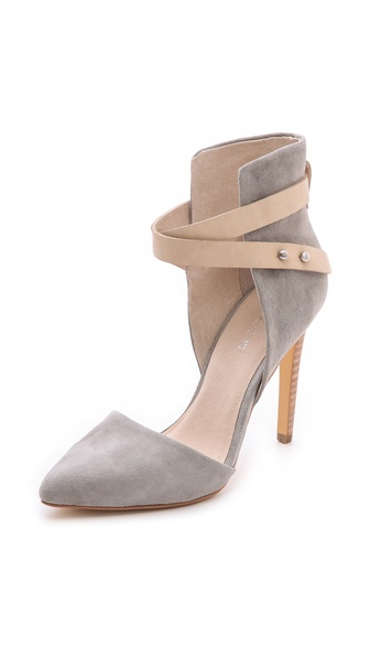 Joe'S Jeans Laney Suede D'Orsay Pumps - Light Grey