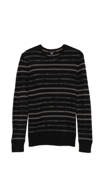 John Varvatos Star USA Striped Crew Neck Sweater